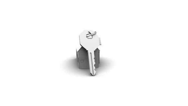 casa e chiavi - portachiavi video stock e b–roll
