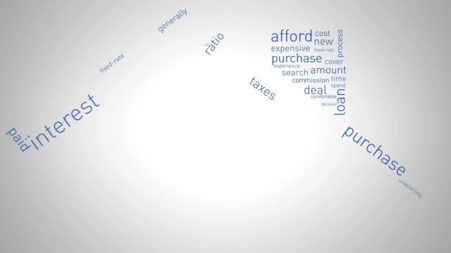 vídeos y material grabado en eventos de stock de casa y mortgage animación - hipotecas y préstamos
