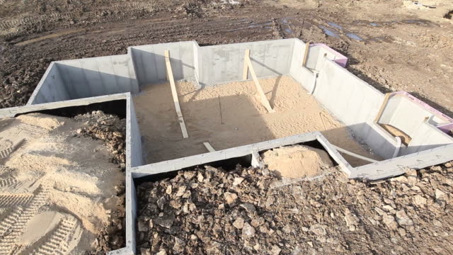 house basement wall foundation panning aerial - basement stock videos & royalty-free footage