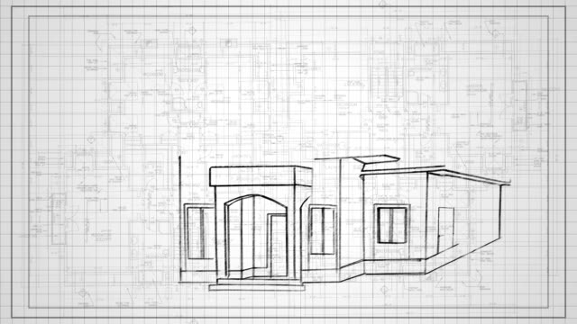 House Building concept HD Animation video
