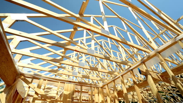 house construction site - ramverk bildbanksvideor och videomaterial från bakom kulisserna