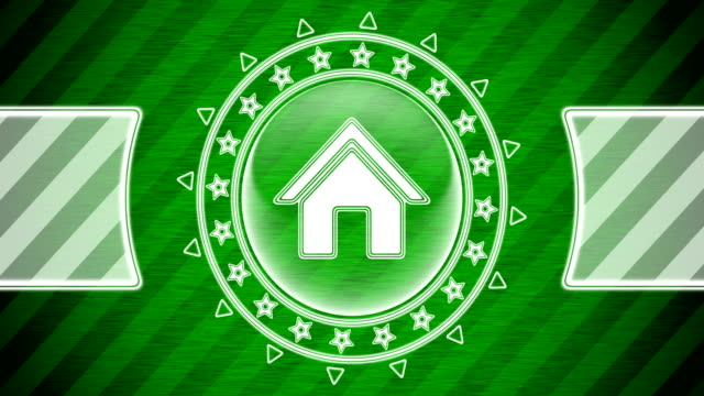 House icon in circle shape and green striped background. Illustration. Looping footage. website design stock videos & royalty-free footage
