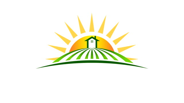 House in Field on sunny Day House in Field on sunny Day. Video motion graphic animation housing logo stock videos & royalty-free footage