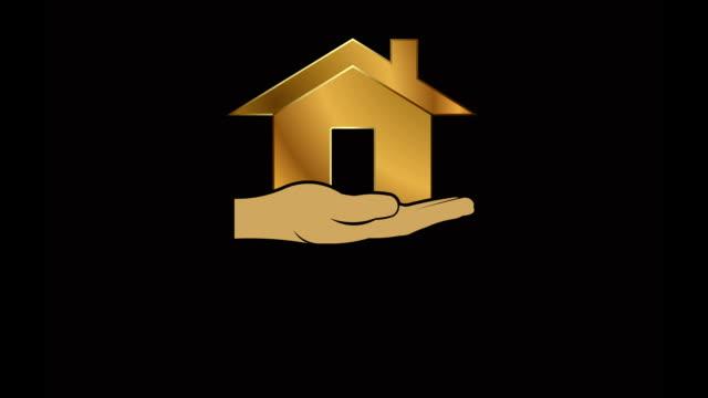 Casa em mão animação vídeo - vídeo
