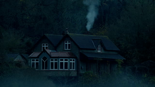 House In The Woods On Bleak Misty Day video