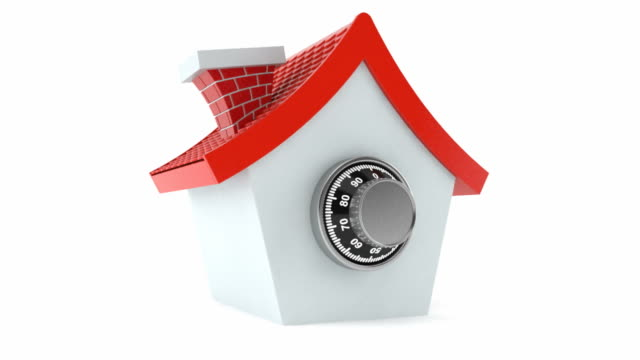 House with combination lock video