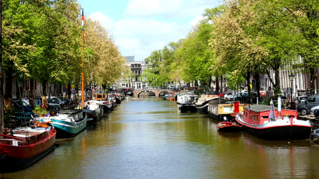 Houseboats in Amsterdam video