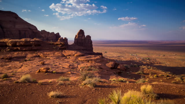 Houses and Rock Formations Oljato-Monument Valley - Time Lapse