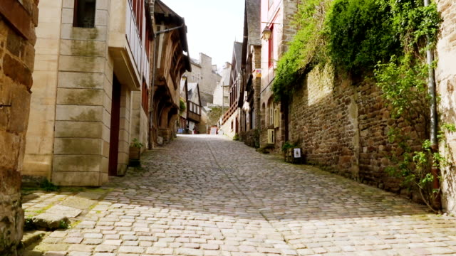 houses at the street of Dinan