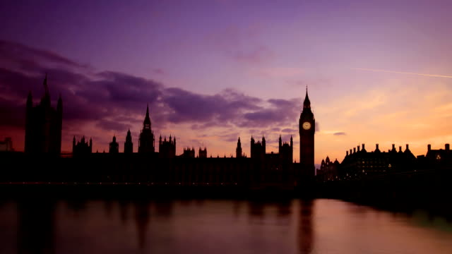 Houses Of Parliament and Big Ben Sunset, London video