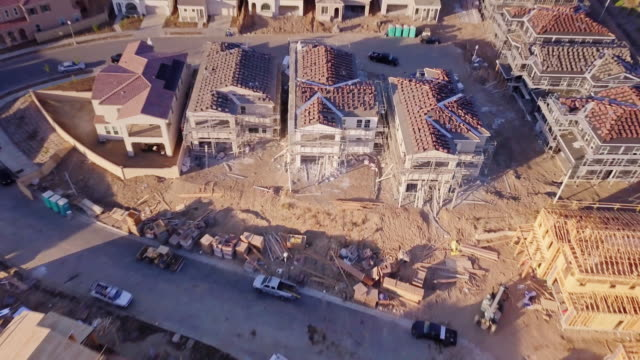 Houses under Construction - Aerial View video