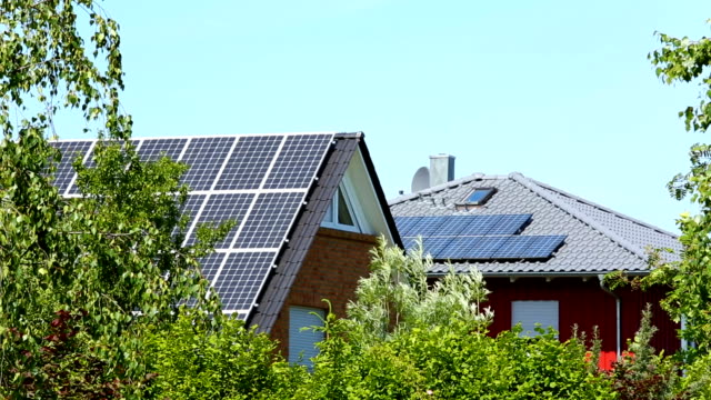 Houses with Solar Panels video