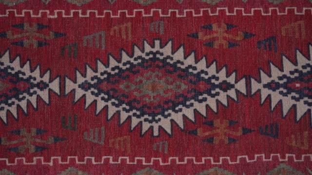 casalinga aspirapolvere tappeto a casa - tappeto video stock e b–roll