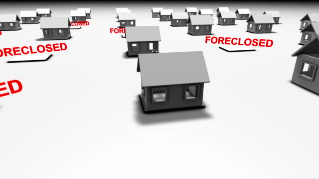 housing market crash - foreclosure stock videos & royalty-free footage