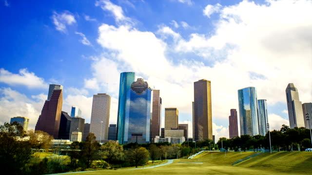 テキサス州ヒューストン雲時間経過景観や公園 - 合意点の映像素材/bロール