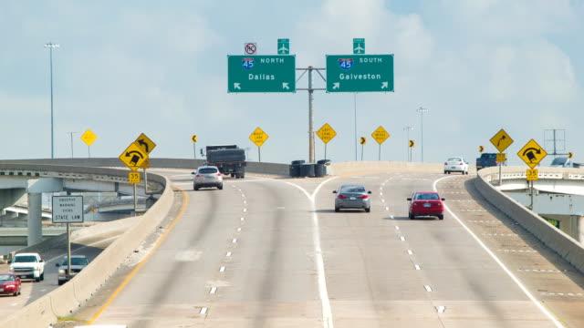 Houston TX Interstate 45 North South Split video