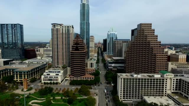 Hovering Over South Congress Avenue Capital City Perfection Above Downtown video