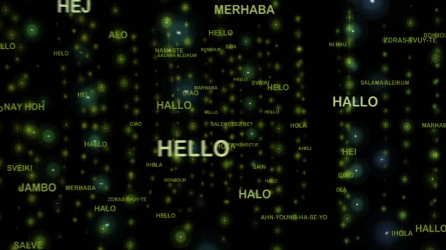 How to say Hello in different Languages video