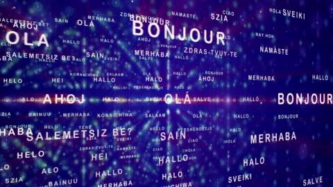 vídeos y material grabado en eventos de stock de cómo decir hola en diferentes idiomas - corte transversal