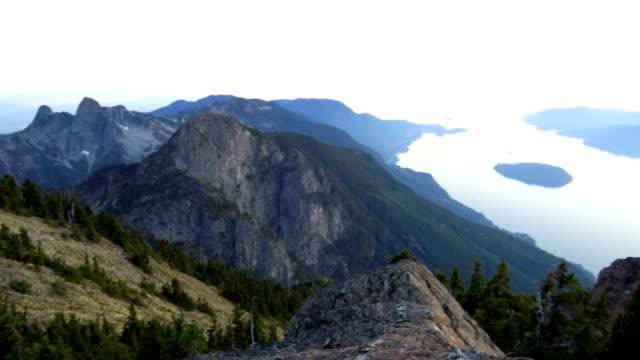 Howe Sound at Sunset Howe Sound at Sunset vancouver canada stock videos & royalty-free footage