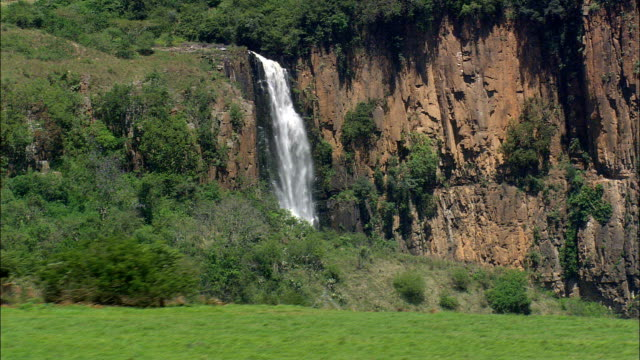 Howick Falls  - Aerial View - KwaZulu-Natal,  South Africa This clip was filmed by Skyworks on HDCAM SR 4:4:4 using the Cineflex gimbal. KwaZulu-Natal,   South Africa natal stock videos & royalty-free footage