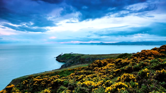 Howth Head sunset time lapse video