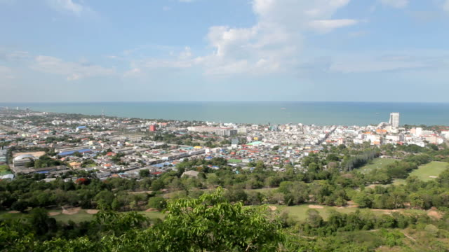Hua Hin City,Thailand,View from the top. video