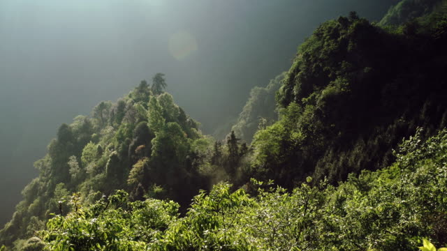 Hua ping nature reserve of the sunset.china video