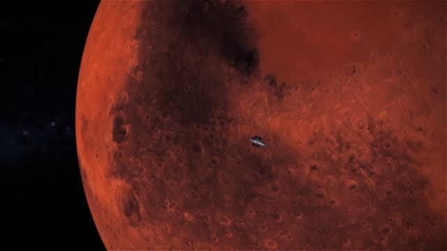rymdteleskopet hubble flyger förbi planeten mars. - mars bildbanksvideor och videomaterial från bakom kulisserna