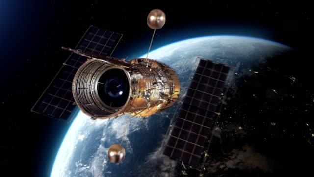 hubble space telescope - вид со спутника стоковые видео и кадры b-roll