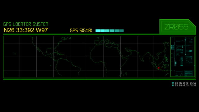 GPS Hud screen video