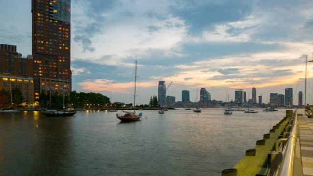 hudson river greenway pier 4k time lapse new york city video