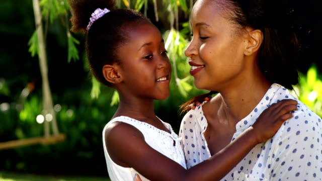 A hug between a mother and her daughter. video