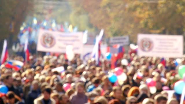 huge crowd of people to demonstrate video