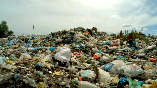 huge dump of garbage at landfill in ukraine - plastic stock videos and b-roll footage