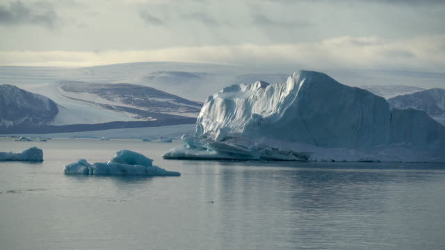 Huge icebergs in Russian Arctic