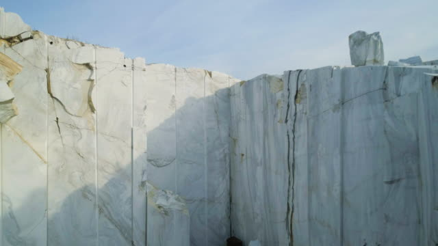 Huge marble blocks at marble quarry site