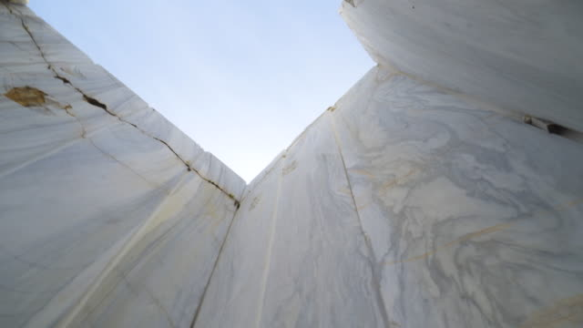 Huge Marble Blocks Marble Quarry Site Industrial marble quarry site rock formations stock videos & royalty-free footage