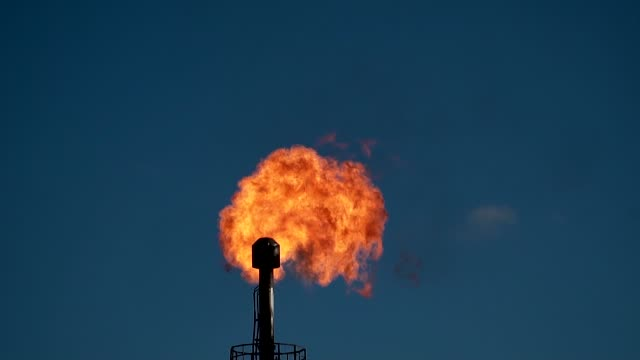 Huge oil gas torch. Slow motion Huge oil gas torch. Preparation and production of petroleum products. Summer day. Slow motion oil and gas stock videos & royalty-free footage