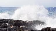 istock HD SUPER SLOW MO: Huge Waves Crushing At Rocks 473303955