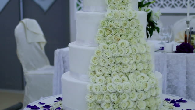 Huge wedding cake video