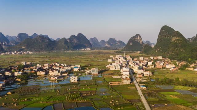hui xian national wetland park in lingui, guilin, china - guilin stock-videos und b-roll-filmmaterial