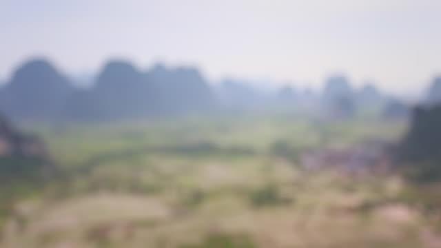 huixian wetland park, lingui, guilin, guangxi, china - provinz guangxi stock-videos und b-roll-filmmaterial