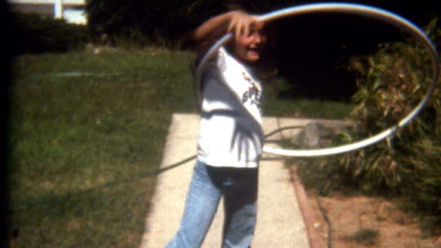 hula hoop 1960's - young singles stock videos and b-roll footage