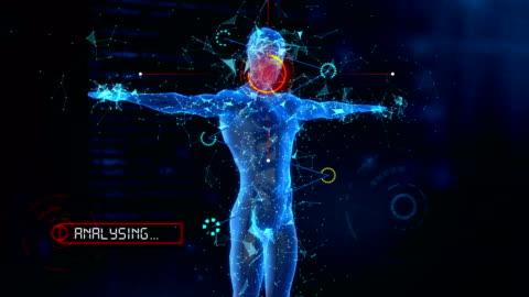 vidéos et rushes de 4 k homme body scan médical (loopable) - biologie