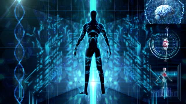 vídeos y material grabado en eventos de stock de la exploración médica del cuerpo humano - escáner plano