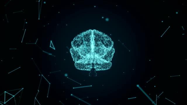 mänskliga hjärnan visas föränderliga och växande med neurala celler bildas av partiklar. - minne bildbanksvideor och videomaterial från bakom kulisserna