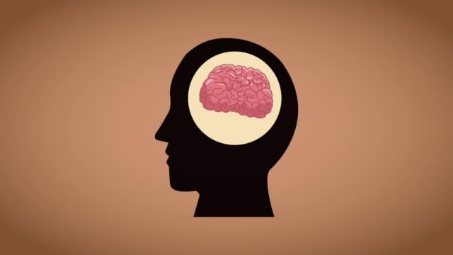 vídeos de stock e filmes b-roll de human brain cartoon hd animation - cerebelo