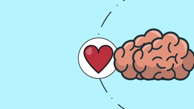Human brain thiking in love and money HD animation Human brain thiking in love, money and music over blue background High definition colorful animation scenes cerebellum stock videos & royalty-free footage
