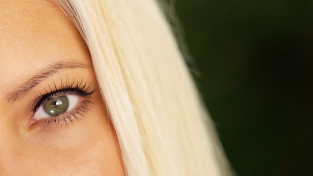 Human eye and Mouth Human eye and Mouth close up lip liner stock videos & royalty-free footage